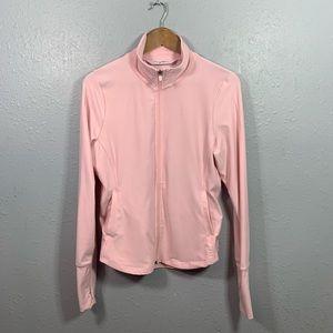 Gottex Pink Full Zip Long Sleeve Jacket Size Large